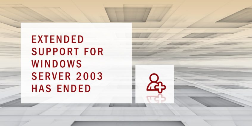 Extended Support for Windows Server 2003 has ended